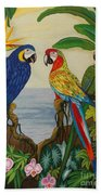 Valley Of The Wings Hand Embroidery Beach Towel