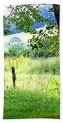 Valley View Along Flat Creek Rd Beach Towel