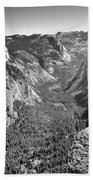 Valley View At Glacier Point Beach Towel
