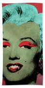 Vampire Marilyn Variant 1 Beach Towel