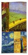 Van Gogh Collage Beach Towel