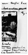 Van Gogh Letter Beach Towel