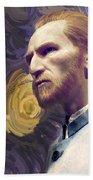 Van Gogh Portrait Beach Towel