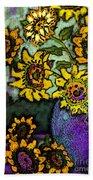 Van Gogh Sunflowers Cover Beach Towel
