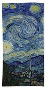 Van Gogh The Starry Night Beach Towel