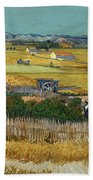 Van Gogh Wheatfield 1888 Beach Towel