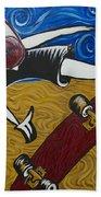 Van Gogh's Half Pipe Beach Towel