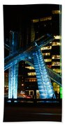 Vancouver - 2010 Olympic Cauldron Lit At Night Beach Towel