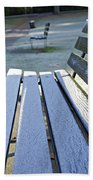 Vancouver Frosty Morning Beach Towel by Marilyn Wilson