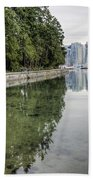 Vancouver Reflections Beach Towel