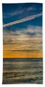 Vapor Trail Beach Towel by Adrian Evans