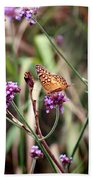 Variegated Fritillary Butterfly Beach Towel