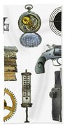 Various Object - Signs - Icons Beach Towel