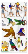Various Themes Of Ancient Egypt Beach Towel