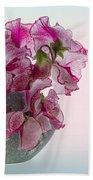 Vase Of Pretty Pink Sweet Peas 2 Beach Towel