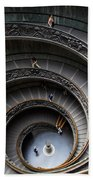 Vatican Spiral Staircase Beach Towel by Inge Johnsson