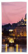 Vatican Twilight Beach Towel by Brian Jannsen