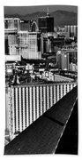 Vegas Black And White Beach Towel