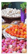 Vegetable Vendor - Omkareshwar India Beach Towel