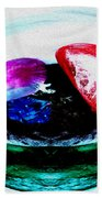Vegetables And Gemstones Beach Towel