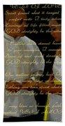 Vein Of Love Poem Beach Sheet