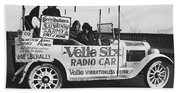Velie Six Radio Car Beach Towel