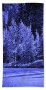 Velvet Winter - Vail - Colorado Beach Towel