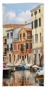 Venetian Apartments Impasto Beach Towel