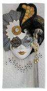 Venetian Mask Beach Towel