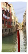 Venice Canal 3 Beach Towel