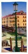 Venice Canal Beach Towel