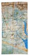 Venice: Map, 1546 Beach Towel