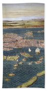 Venice: Map, 16th Century Beach Towel