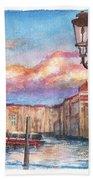 Venice Sunset Beach Towel