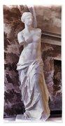 Venus De Milo - Louvre Beach Towel