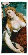 Venus Mars And Cupid Crowned By Victory Beach Towel