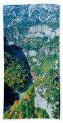Verdon Gorge In Autumn Beach Towel