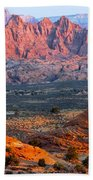 Vermillion Cliffs At Sunrise Beach Towel