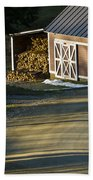 Vermont Maple Sugar Shack Sunset Beach Towel by Edward Fielding