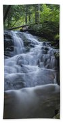Vermont New England Waterfall Green Trees Forest Beach Towel