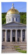 Vermont State Capitol In Montpelier  Beach Towel