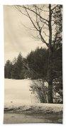 Vermont Winterland Beach Towel