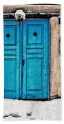 Very Blue Door Beach Towel