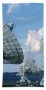 Very Large Array Of Radio Telescopes Beach Towel
