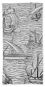 Vessels Of Early Spanish Navigators From The Narrative And Critical History Of American Beach Towel