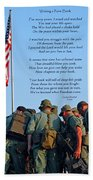 Veterans Remember Beach Towel by Carolyn Marshall