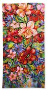Vibrant Blooms Beach Towel