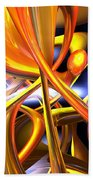 Vibrant Love Abstract Beach Towel