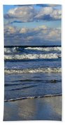 Vibrant November Clouds Beach Towel