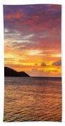 Vibrant Tropical Sunset Beach Towel